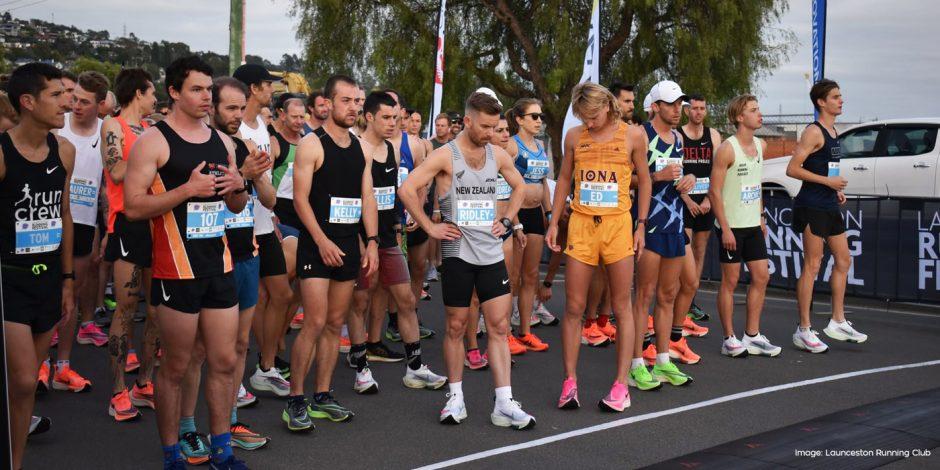 Athletes on the start line for the 2020 Launceston Half Marathon