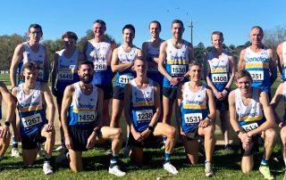 Bendigo Bats team at 2021 Athletics Victoria's XCR round at Lardner Park